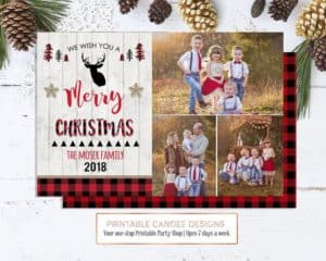 Printable Photo Holiday Card