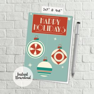 Printable Modern Christmas Card