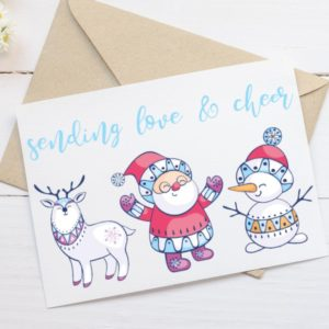 Printable Holiday Card - Sending Love and Cheer