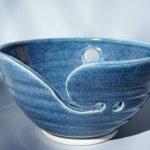 Denim Blue Handmade Ceramic Yarn Bowl