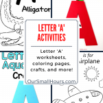 Free Printable Letter A Coloring Pages