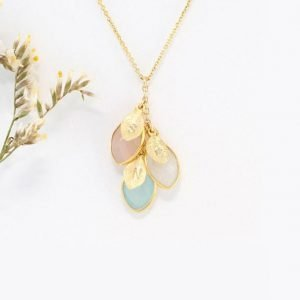 Leaf Drop Family Necklace for Mom