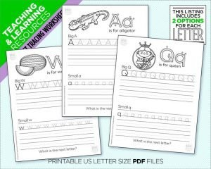 Printable Alphabet Tracing Worksheets for Preschoolers