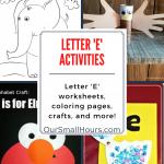 Free Printable Letter E Worksheets