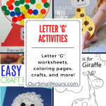 Free Printable Letter G Worksheets