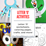 Free Printable Letter O Worksheets
