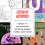 Free Printable Letter U Worksheets