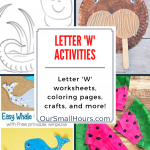 Free Printable Letter W Worksheets