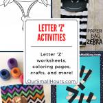 Free Printable Letter Z Worksheets