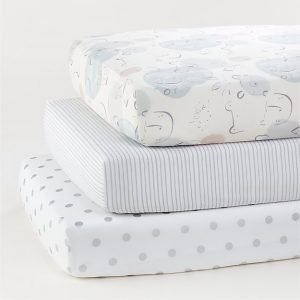 Baby Bear, Pinstripe, and Dot Fitted Crib Sheets