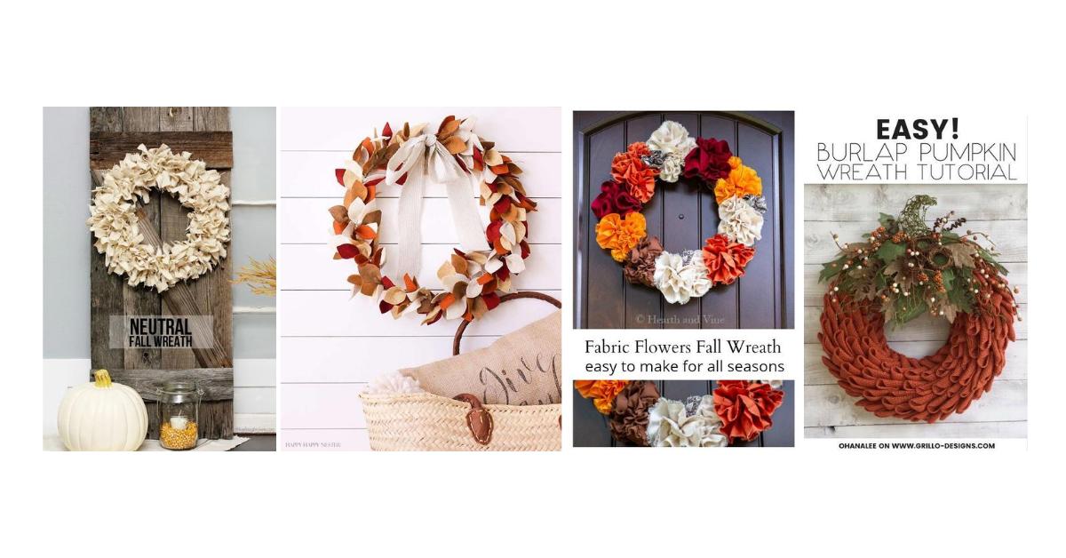 Diy Fall Wreaths Homemade Wreath Tutorials And Ideas