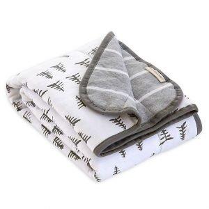 Grey Pine Forest Baby Blanket