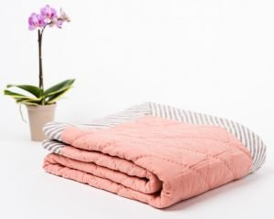 Hand Dyed Organic Muslin Baby Blanket in Pink