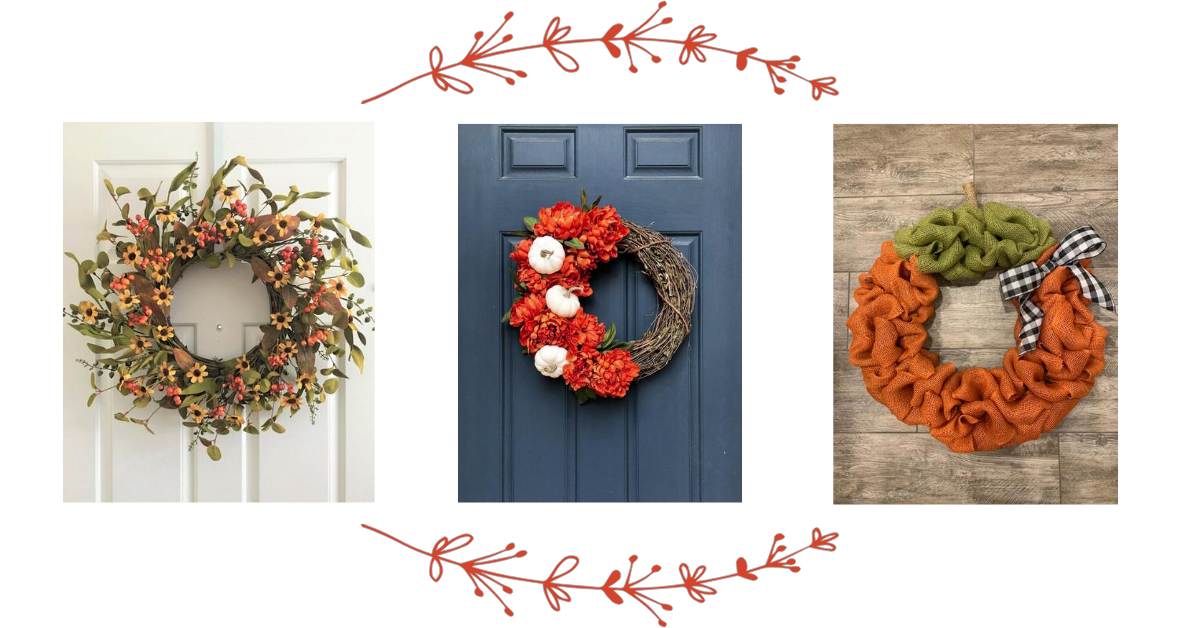 Handmade Fall Wreaths from Etsy