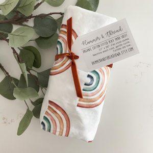 Handmade Rainbow Crib Sheet