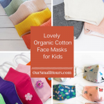 Various Organic Cotton Face Masks for Kids
