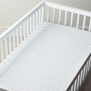 Mint Half Moon Fitted Crib Sheet