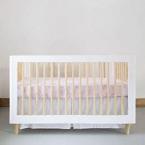 Peach Floral Organic Cotton Baby Bedding Collection