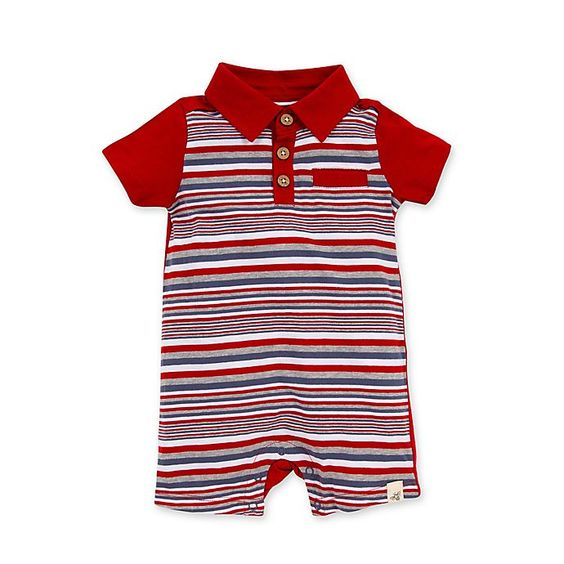 Organic Cotton Baby Polo Romper