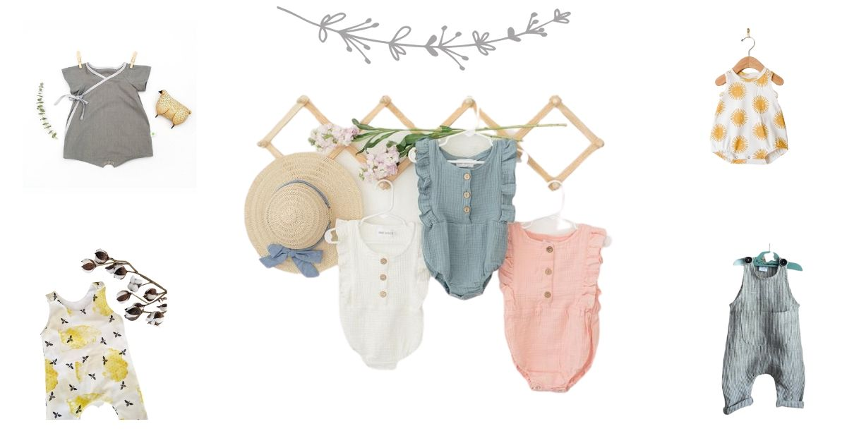 - Summer Boho Baby Romper High Quality Original Cotton Organic Baby Clothes Romper Baby Romper with Triangle Print