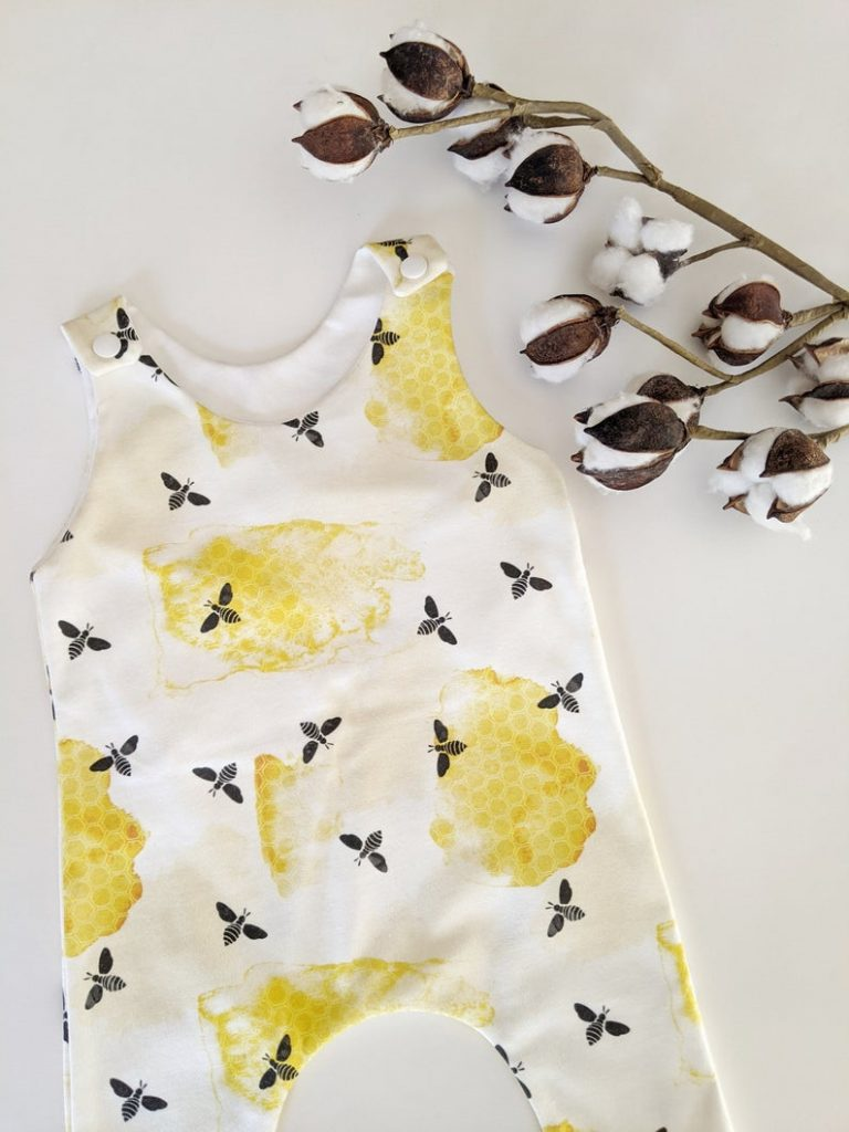 Honey Comb Organic Cotton Romper