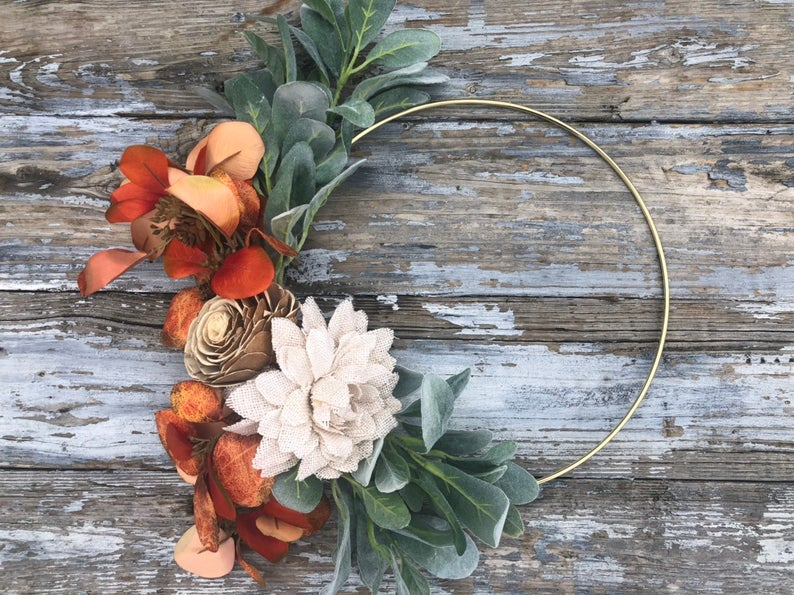 Simple Fall Ring Wreath