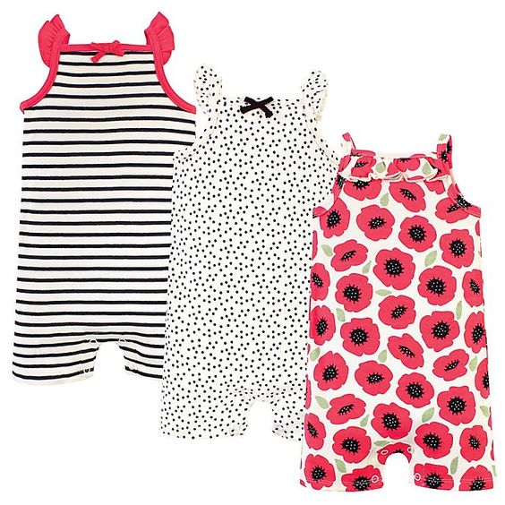 Touched By Nature Organic Cotton Baby Rompers