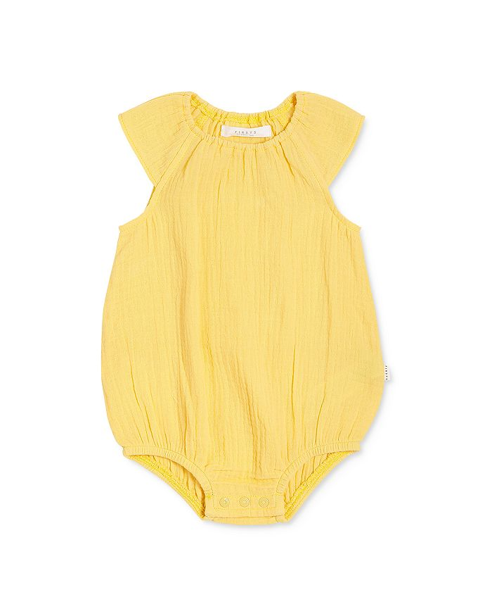 Yellow Organic Cotton Sleeveless Baby Romper