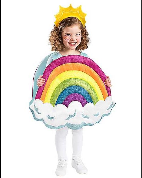 3D Toddler Rainbow Halloween Costume