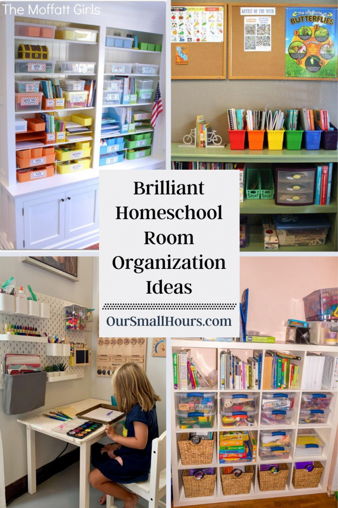 Brilliant Homeschool Room Organization Ideas