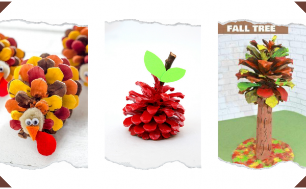 Fall Pinecone Crafts for Kids