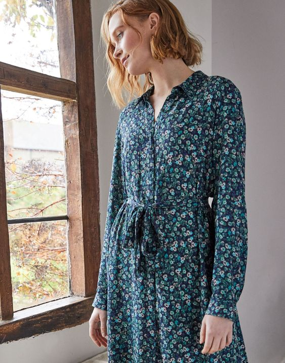 Joules Aurelie A Line Shirt Dress