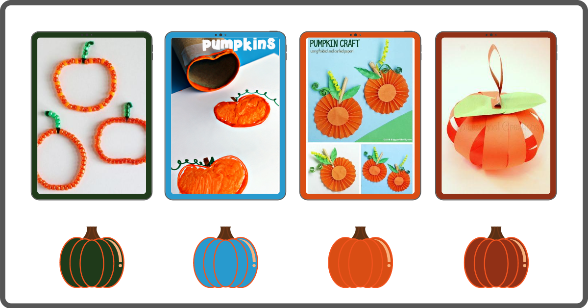 Fall Pumpkin Crafts for Preschoolers