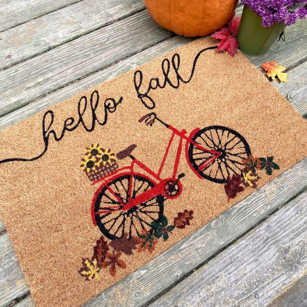 Hello Fall Bicycle Doormat