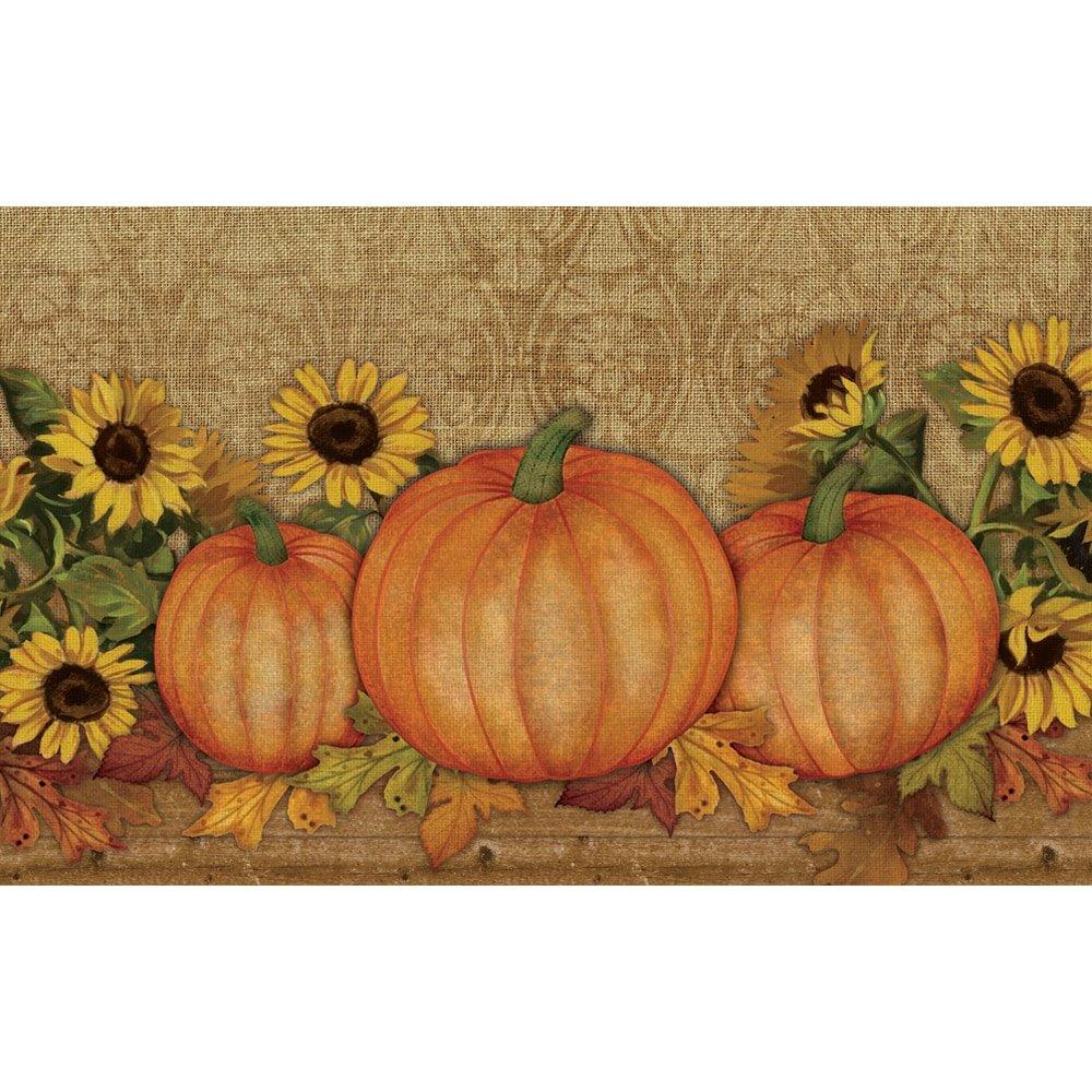 Pumpkin and Sunflower Doormat