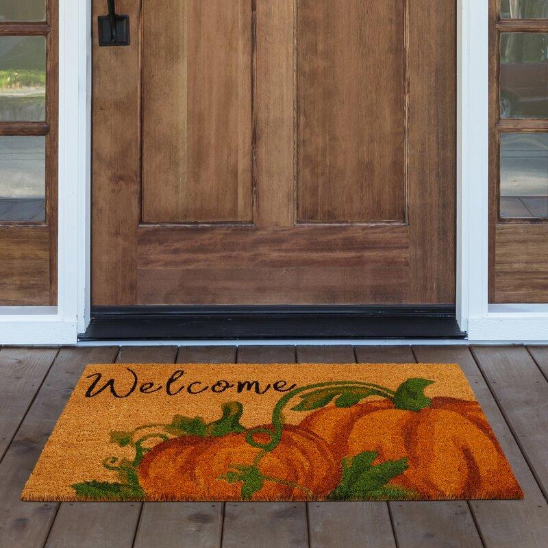 Pumpkin Design Welcome Mat